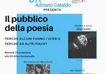 Il poeta autore Adriano Cataldo ospita Davide col Paese dei Pagliacci a Sanbaradio